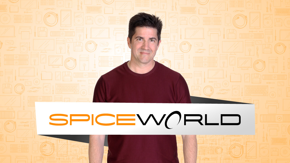 SpiceWorld banner and Chris Ward
