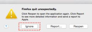 Firefox Quit Unexpectedly