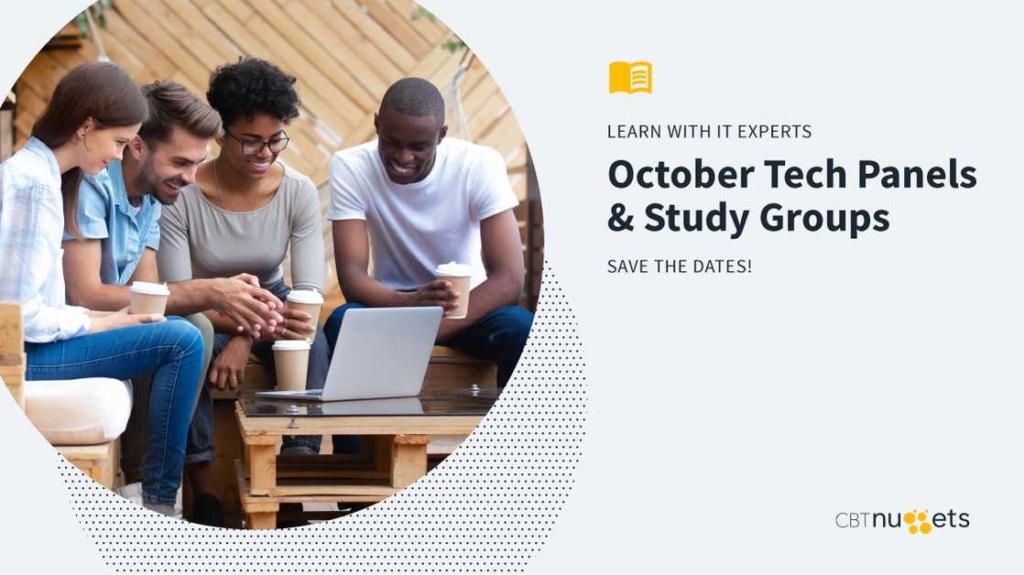 October 2019: Study Groups & Tech Panels Schedule