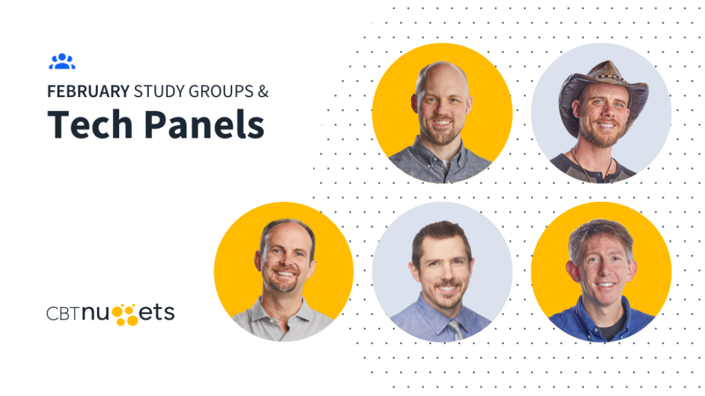 February 2020: Study Groups & Tech Panels Schedule